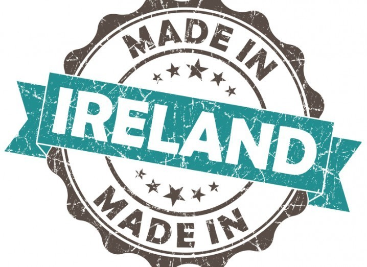 Made in Ireland label