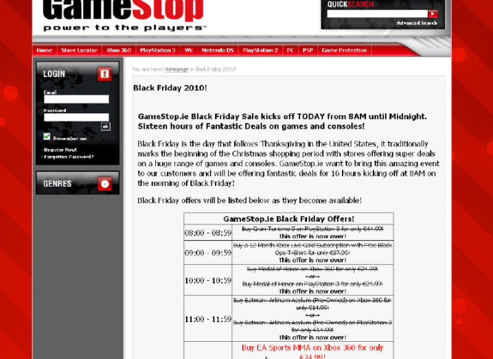 Gamestop Holds Black Friday Deals In Ireland Play Siliconrepublic Com Ireland S Technology News Service