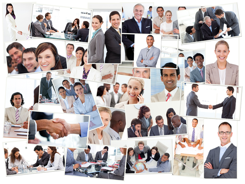 collage-of-business-people
