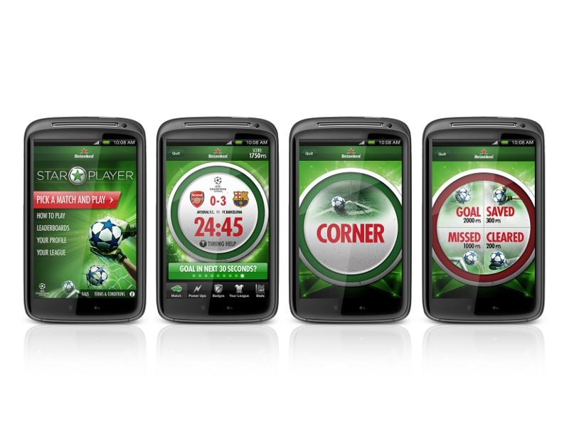 heineken-star-player-app-screens