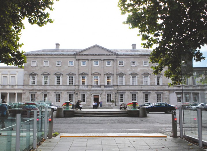 leinster-house-behind