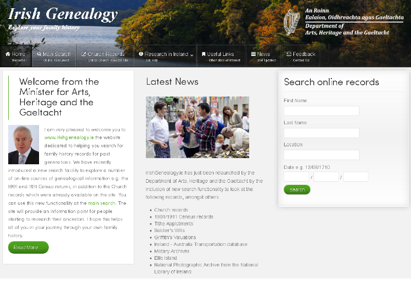 Expanded Irish Genealogy website includes more sources - Life   siliconrepublic.com - Ireland's Technology News Service
