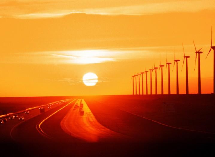 turbines-sunset