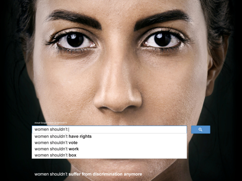 UN Women ads use Google's suggested searches to highlight sexism