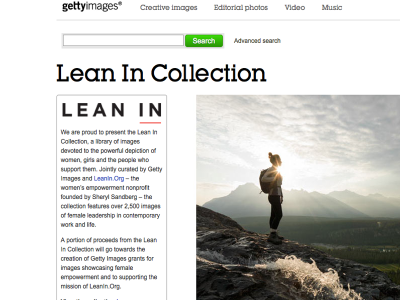 Lean In joins with Getty Images to change visual narrative on the lives of women