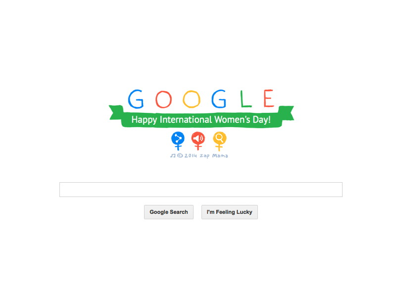 Video-based Google Doodle marks International Women's Day