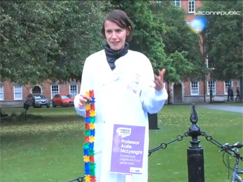 Geneticist Aoife McLysaght at Soapbox Science in Dublin (video)