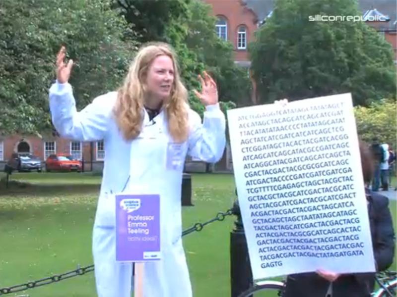 Prof Emma Teeling at Soapbox Science in Dublin (video)