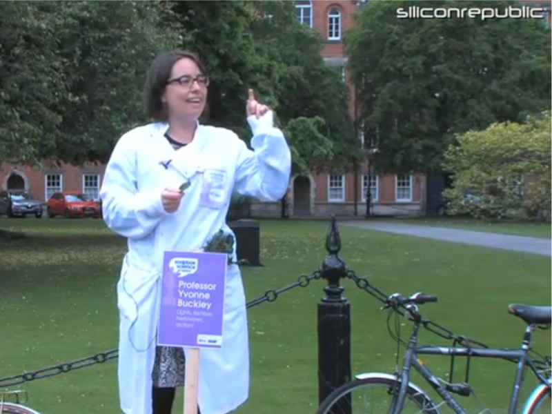 Zoologist Yvonne Buckley at Soapbox Science in Dublin (video)