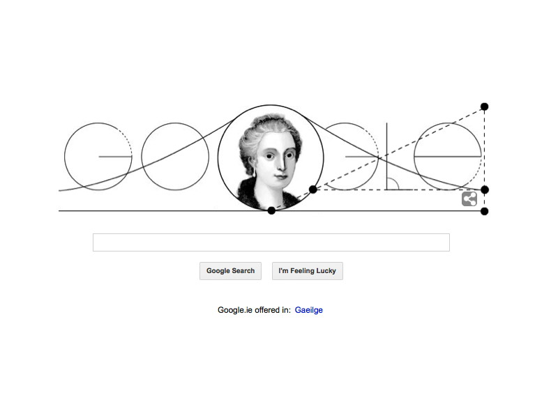 Maria Gaetana Agnesi's 296th birthday: Google Doodle throws a curve