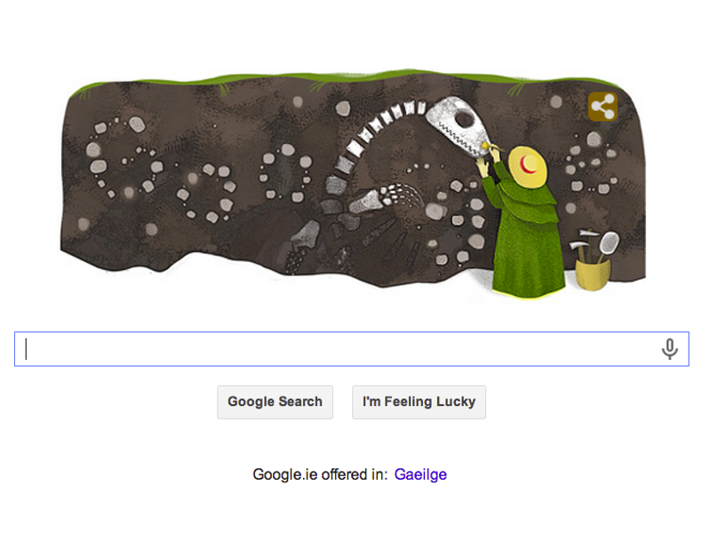 Obscure palaeontologist Mary Anning's 215th birthday unearthed with a Doodle