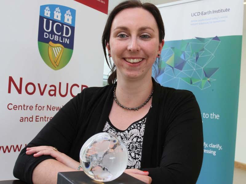 First winner of UCD CleanWeb Sprint Award has bright idea