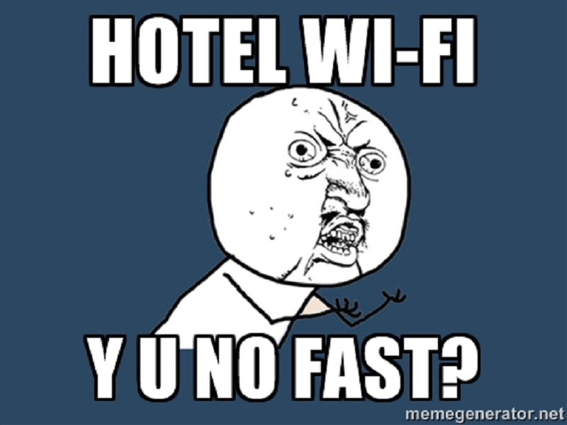 Irish hotel guests would rather have fast Wi-Fi over food and water