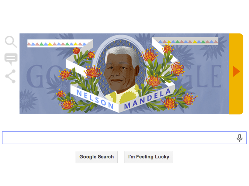 Google Doodles Nelson Mandela's long walk to freedom