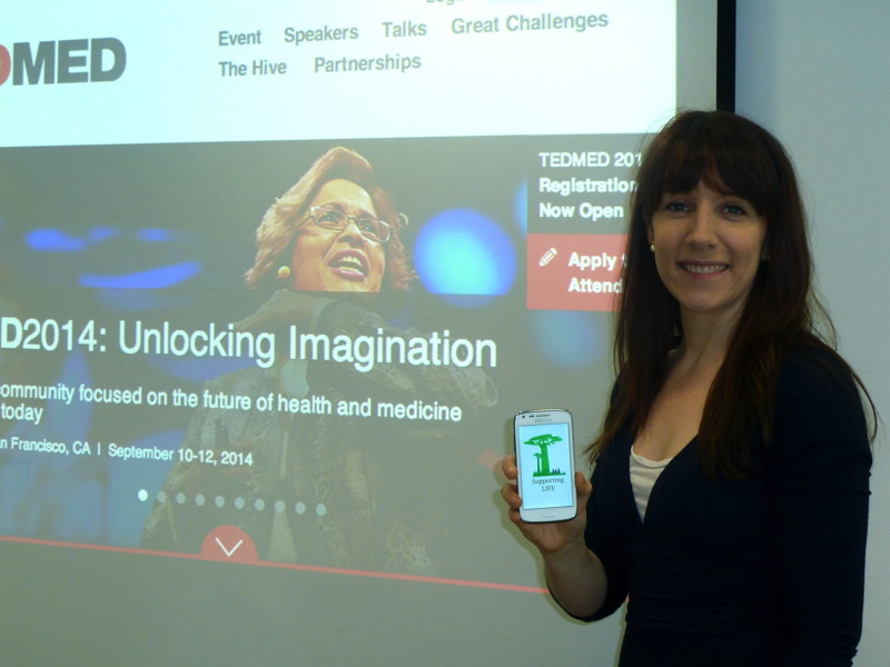 Irish researcher to showcase medical support app at TEDMED