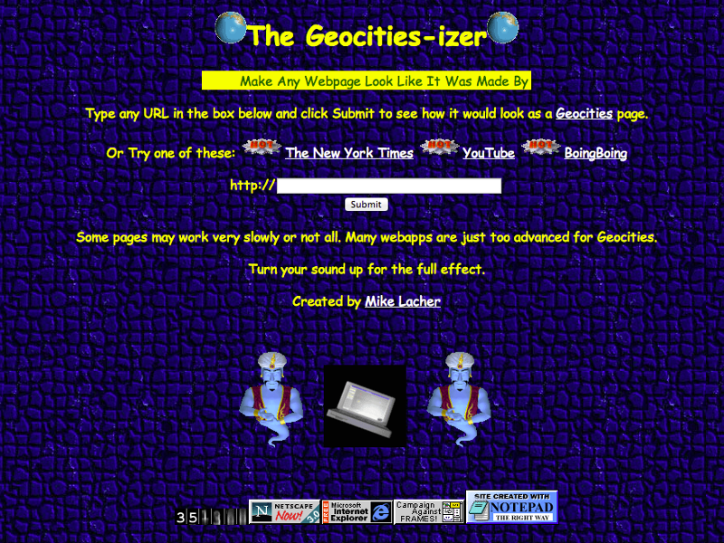 Gigglebit: how to make a website look like it was made by a 13-year-old in 1996