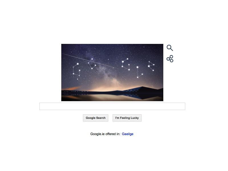 Google animates Perseid meteor shower 2014 in Doodle