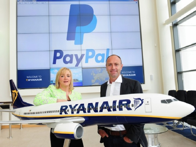 Ryanair now accepting payments through PayPal