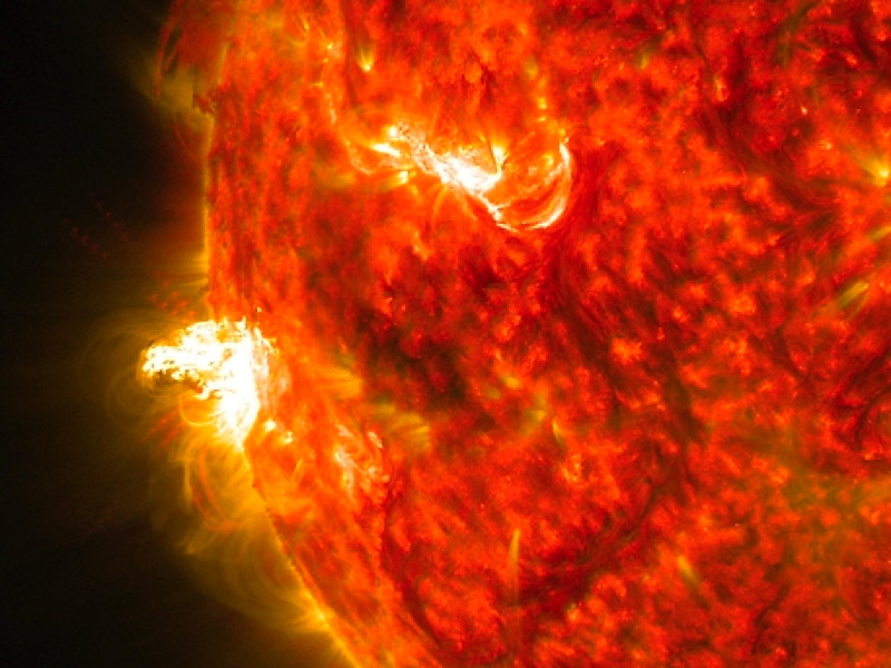 NASA snaps image of late summer solar flare