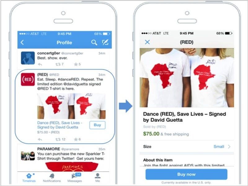 Tweet-commerce: Twitter begins testing purchases via 'buy' button