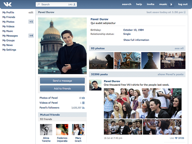 Mail.ru buys Russian Facebook for US$1.47bn