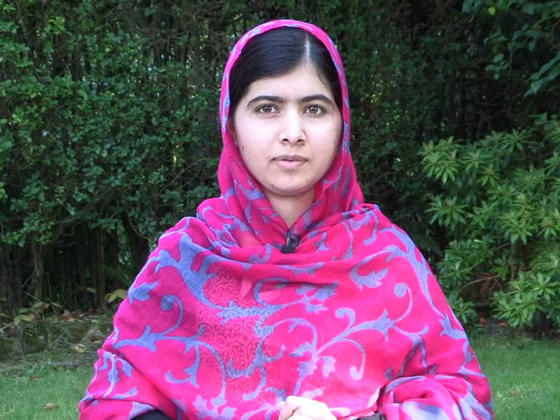 Nobel prize winner Malala challenges girls to do an hour of coding