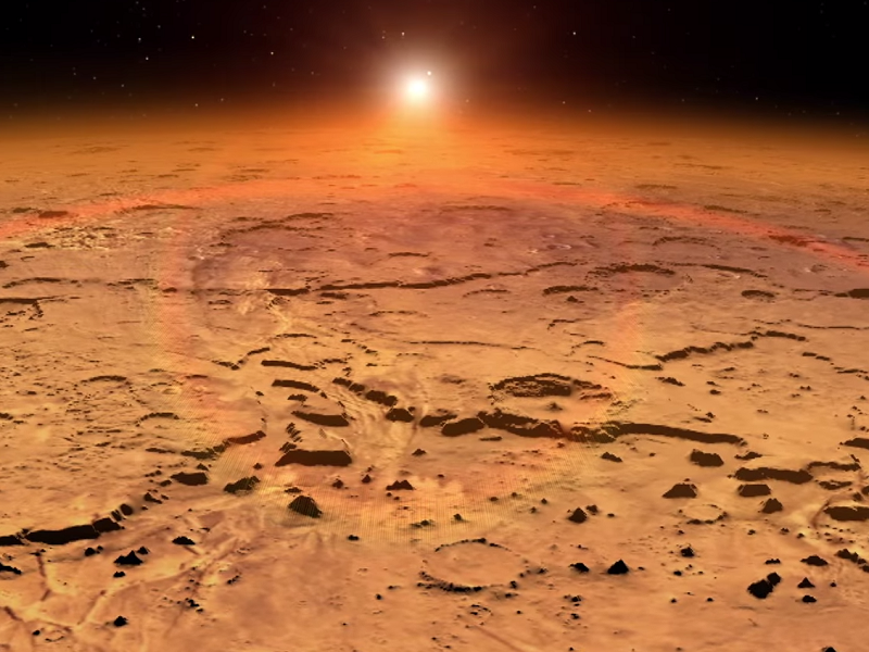 NASA craft gets first glimpse of Martian atmosphere