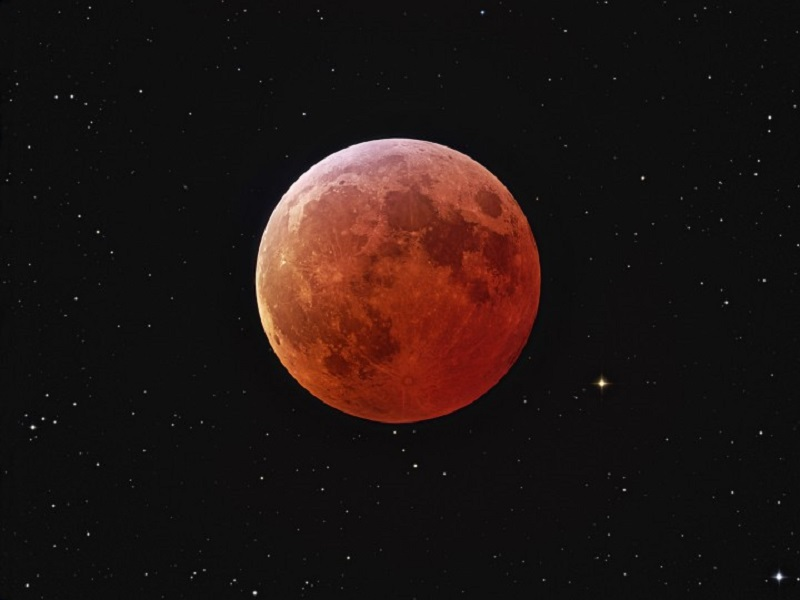 US and Asia Twitter users capture stunning 'blood moon'