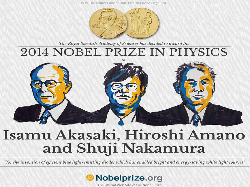 Trio wins Nobel prize for physics for energy-efficient bulbs