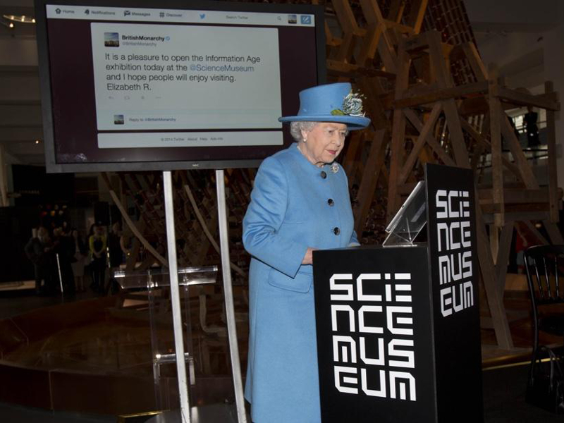 Queen posts first ever Tweet