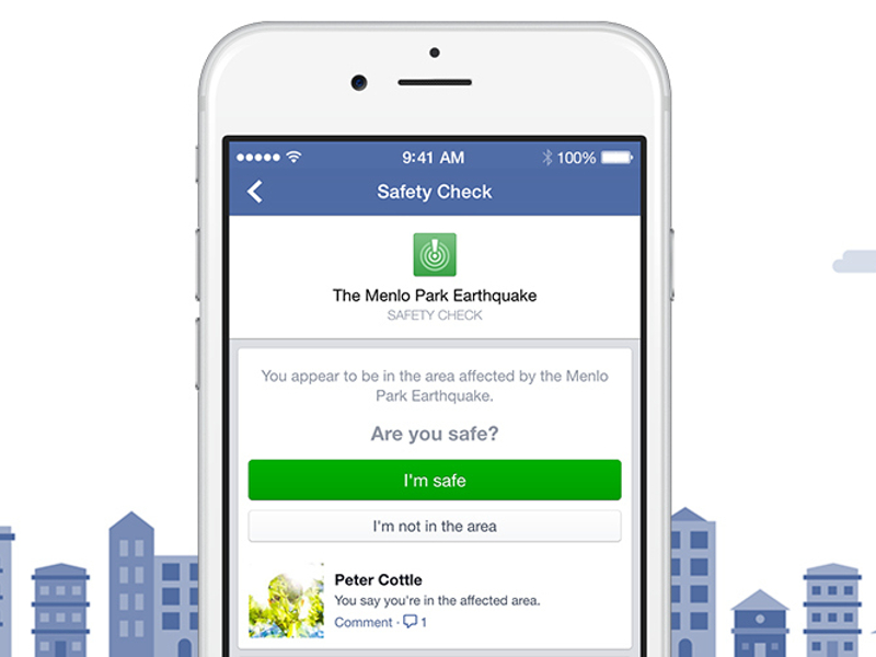 Safety Check lets Facebook users tell friends they're OK during natural disaster