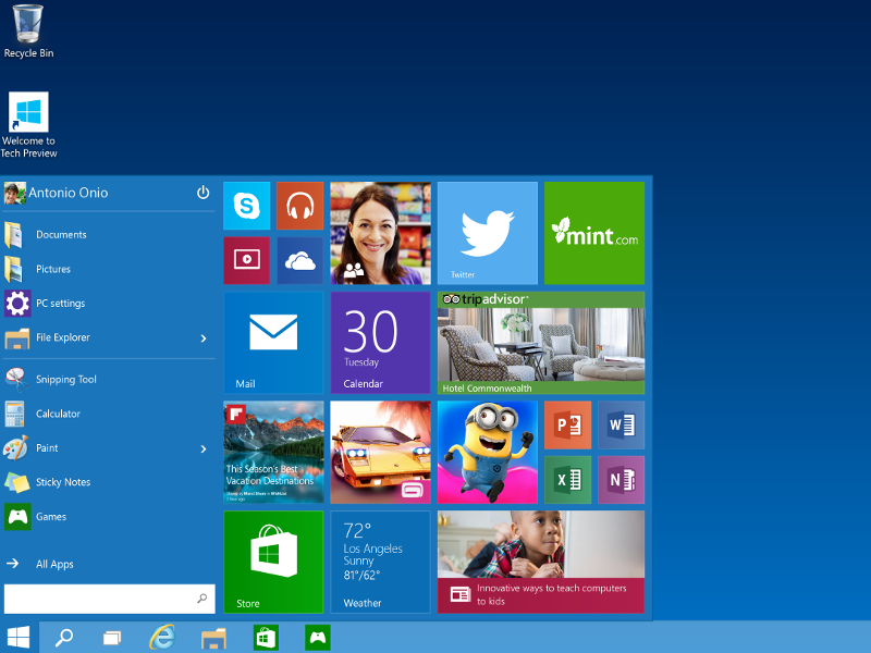 Microsoft goes back to the 'Start' with Windows 10