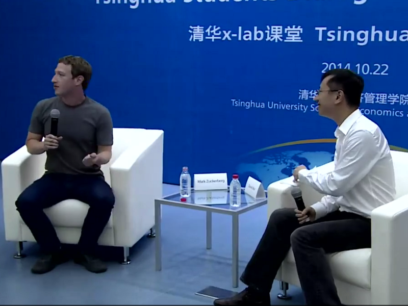 Zuckerberg woos Chinese audience with knowledge of Mandarin at Q&A session