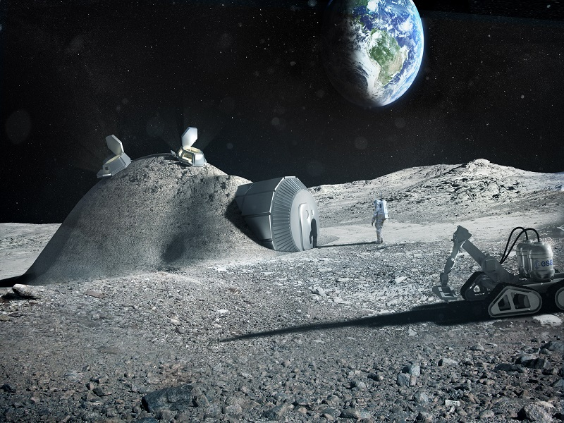 ESA to use 3D printing to create first lunar base