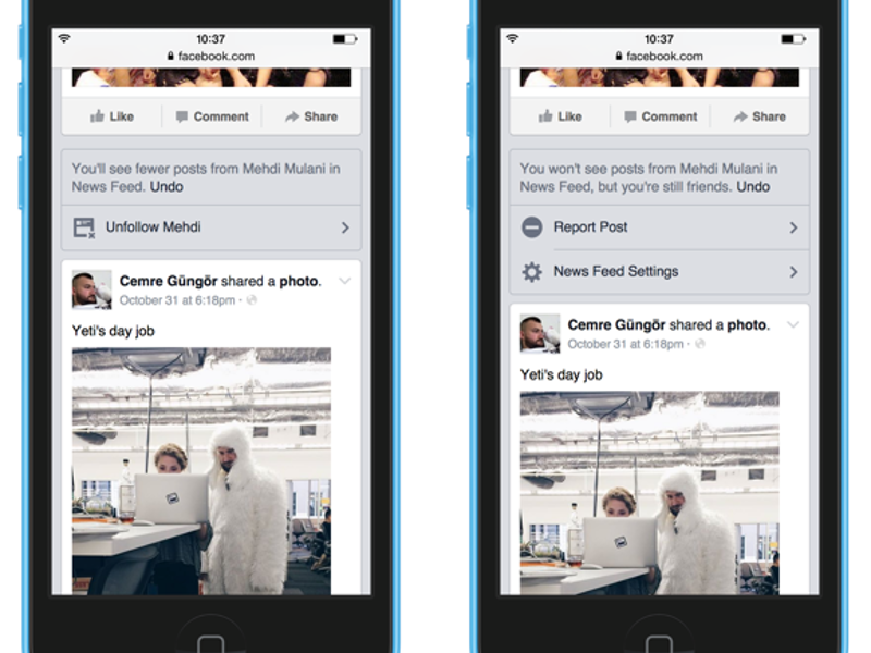 Facebook unveils news feed changes to give users greater control