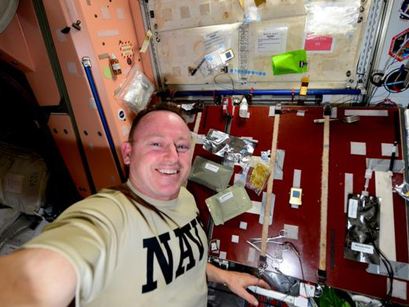 International Space Station astronauts celebrate Thanksgiving in space