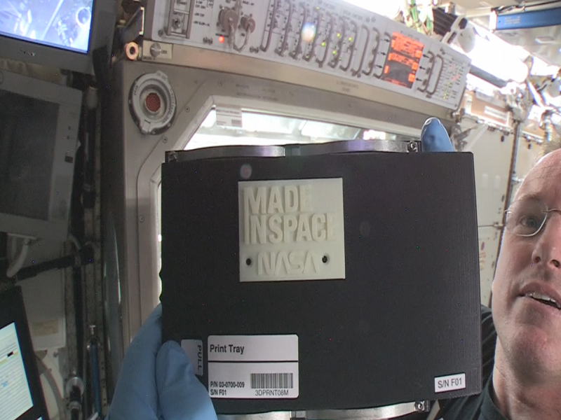 First object 3D printed in space made aboard ISS
