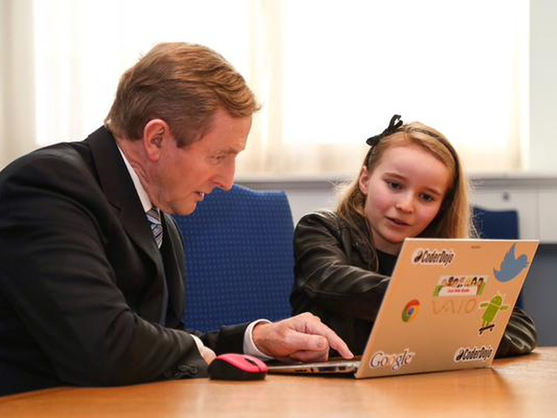 See what the Taoiseach built during his Hour of Code with Lauren Boyle