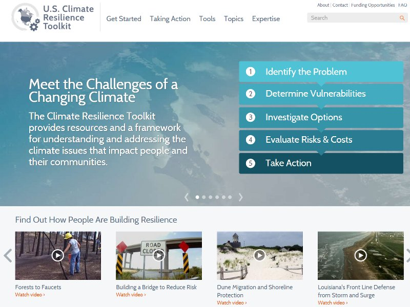 White House launches toolkit for climate change