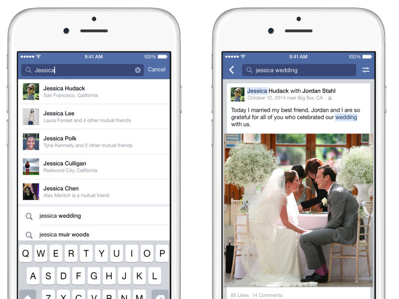 Facebook brings Search to mobile devices, discover posts by keyword
