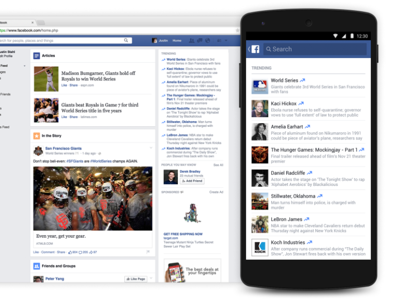 Facebook brings Trending Updates to mobile devices