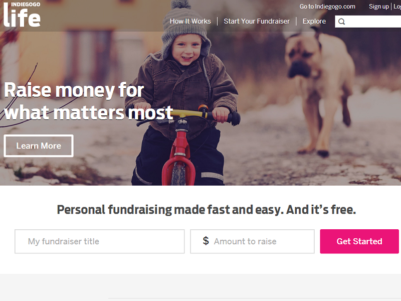 Indiegogo Life now allows fundraising for charitable causes