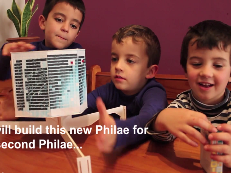 3 children attempt to build new comet lander to reboot Philae