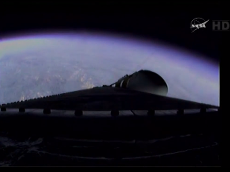Orion has just left Earth's atmosphere (live)
