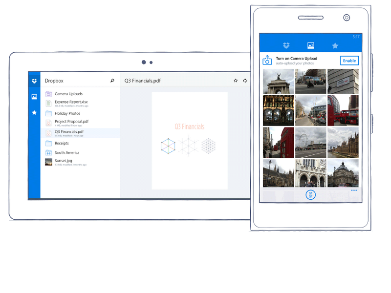 Dropbox unveils app for Windows phones and tablets