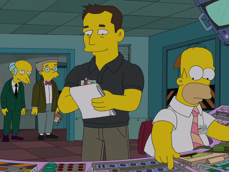 Elon Musk follows The Simpsons appearance by debunking show's tech claims