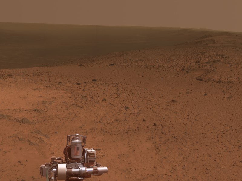 Panoramic snap from Mars Rover shows quite the view
