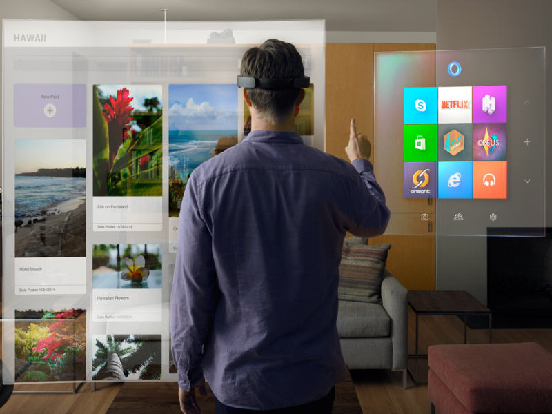 Microsoft stuns tech world with its HoloLens vision and one OS to rule them all