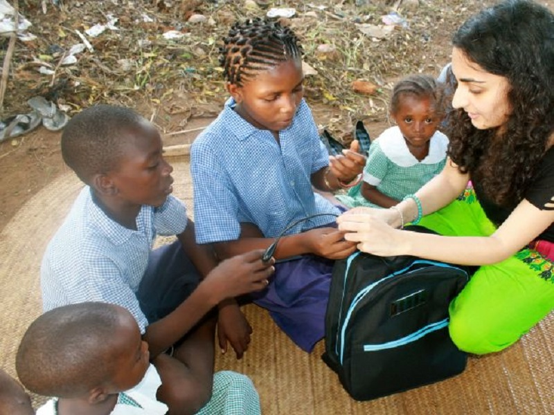 Solar-powered backpack aiming to bring education to millions