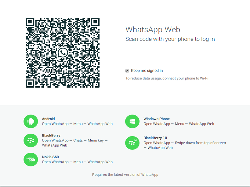 WhatsApp Web now lets you message through desktop, unless you're iOS